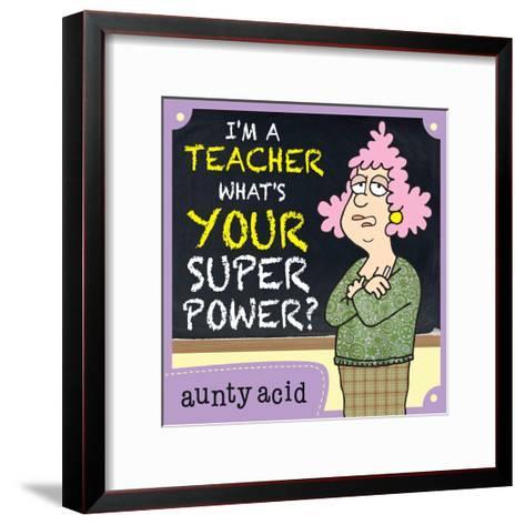 Super Power-Aunty Acid-Framed Art Print