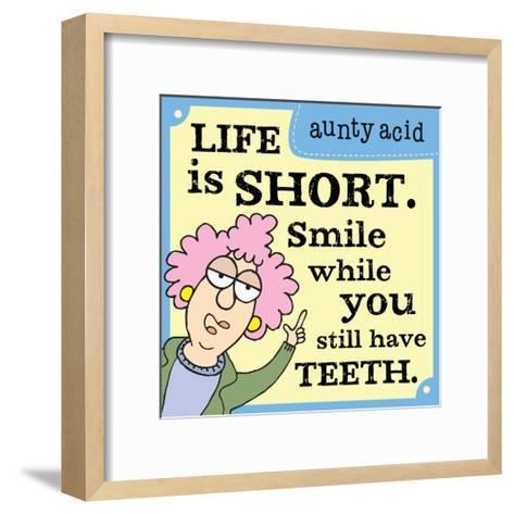 Life Is Too Short-Aunty Acid-Framed Art Print