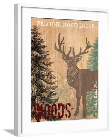 Welcome to Our Lodge-Bee Sturgis-Framed Art Print