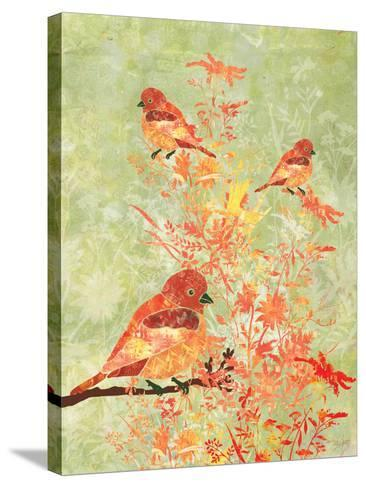 3 Birds in a Bush-Bee Sturgis-Stretched Canvas Print