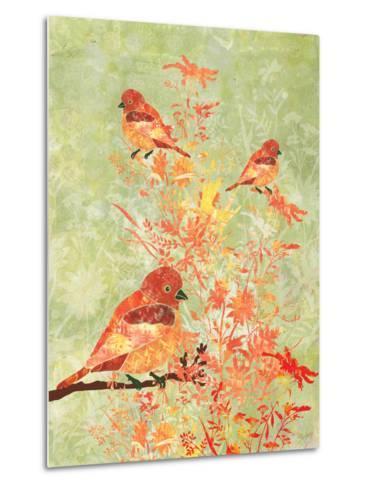 3 Birds in a Bush-Bee Sturgis-Metal Print
