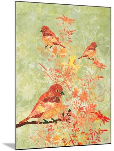 3 Birds in a Bush-Bee Sturgis-Mounted Art Print