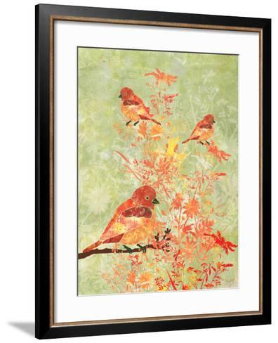 3 Birds in a Bush-Bee Sturgis-Framed Art Print