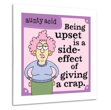Giving a Crap-Aunty Acid-Metal Print