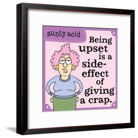 Giving a Crap-Aunty Acid-Framed Art Print