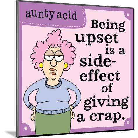 Giving a Crap-Aunty Acid-Mounted Art Print