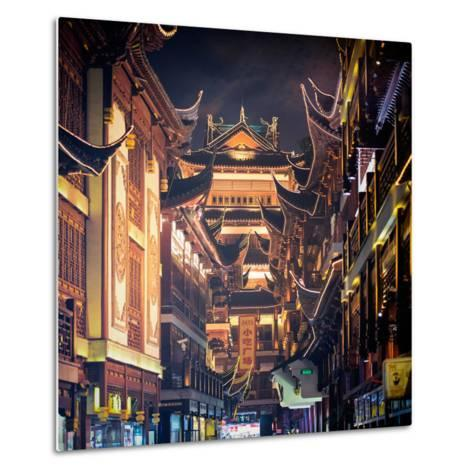 China 10MKm2 Collection - Traditional Architecture in Yuyuan Garden at night - Shanghai-Philippe Hugonnard-Metal Print