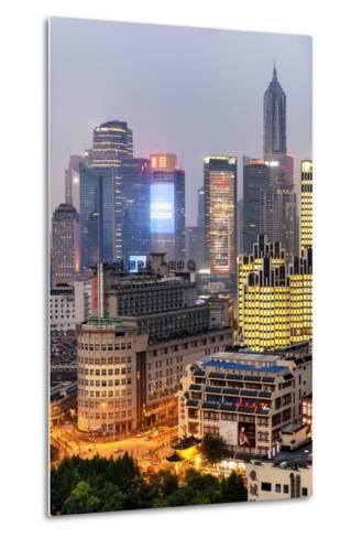 China 10MKm2 Collection - The Bund at Night - Shanghai-Philippe Hugonnard-Metal Print