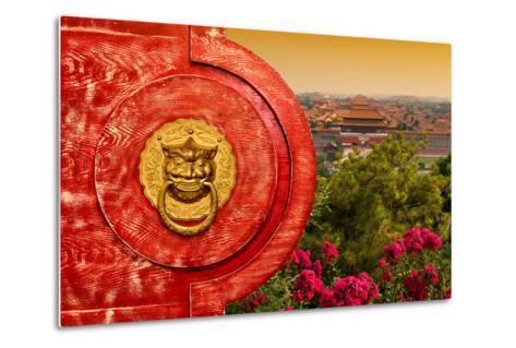 China 10MKm2 Collection - The Door God - Forbidden City-Philippe Hugonnard-Metal Print