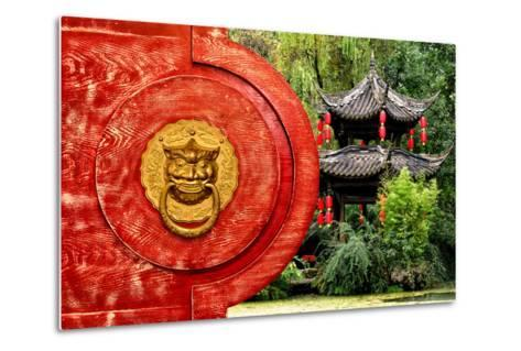 China 10MKm2 Collection - The Door God - Green Temple-Philippe Hugonnard-Metal Print