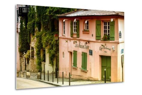 Paris Focus - La Maison Rose in Montmartre-Philippe Hugonnard-Metal Print