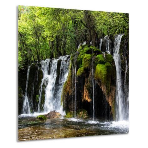 China 10MKm2 Collection - Waterfalls in the Jiuzhaigou National Park-Philippe Hugonnard-Metal Print