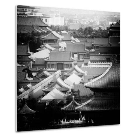 China 10MKm2 Collection - View of the roofs of Forbidden City-Philippe Hugonnard-Metal Print
