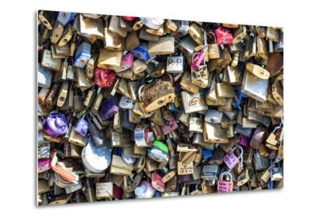 Paris Focus - Love Locks-Philippe Hugonnard-Metal Print