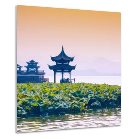 China 10MKm2 Collection - West Lake at sunset-Philippe Hugonnard-Metal Print