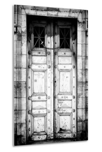 Paris Focus - Old White Door-Philippe Hugonnard-Metal Print