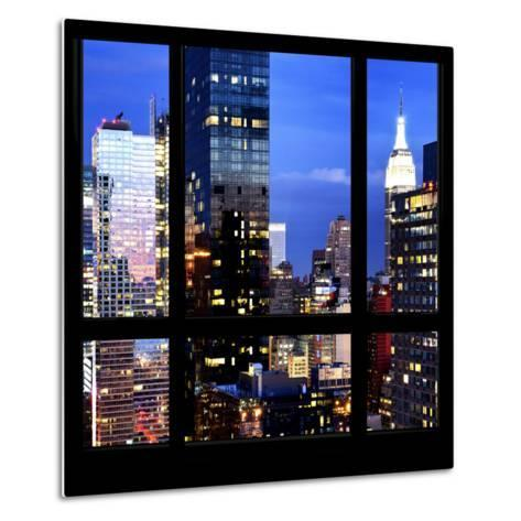 View from the Window - Manhattan Night-Philippe Hugonnard-Metal Print