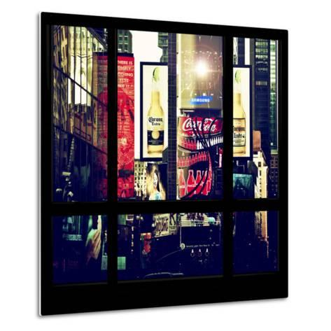 View from the Window - Times Square Buildings-Philippe Hugonnard-Metal Print