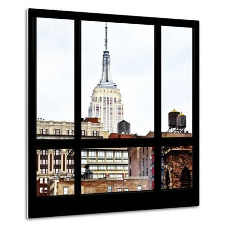 View from the Window - Empire State Building-Philippe Hugonnard-Metal Print
