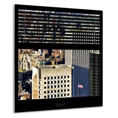 View from the Window - Upper Manhattan Building-Philippe Hugonnard-Metal Print