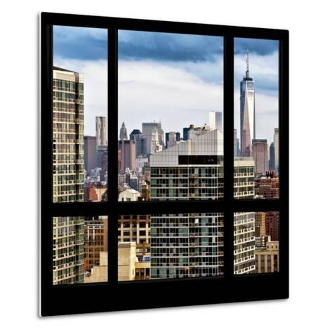 View from the Window - Manhattan Skyscrapers-Philippe Hugonnard-Metal Print