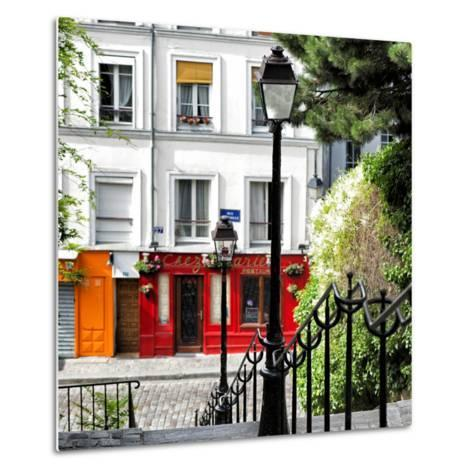 Paris Focus - Steps to Montmartre-Philippe Hugonnard-Metal Print