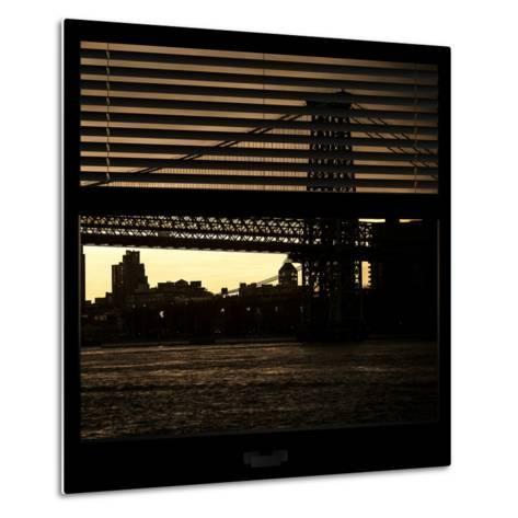 View from the Window - Williamsburg Bridge - New York-Philippe Hugonnard-Metal Print