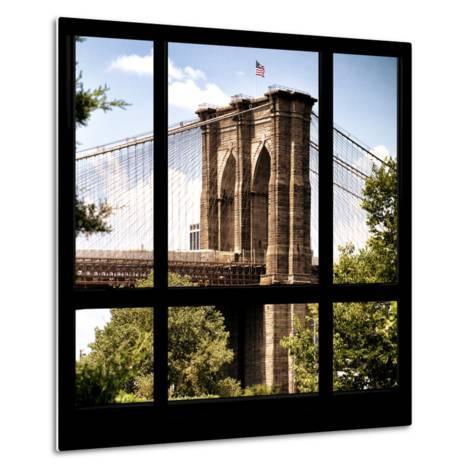 View from the Window - Brooklyn Bridge-Philippe Hugonnard-Metal Print