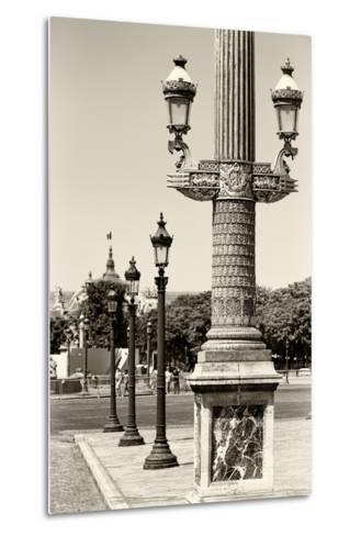 Paris Focus - Row of Lamps-Philippe Hugonnard-Metal Print