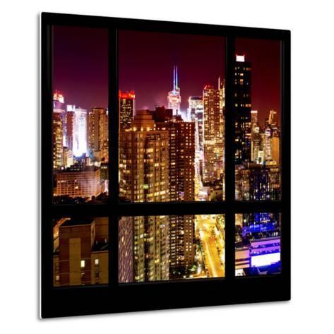 View from the Window - Midtown Manhattan Night-Philippe Hugonnard-Metal Print