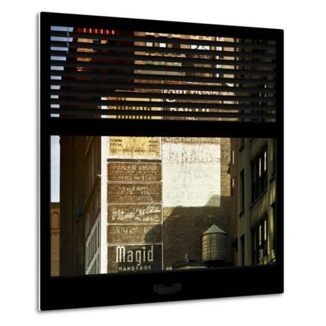 View from the Window - Old Facade - NYC-Philippe Hugonnard-Metal Print