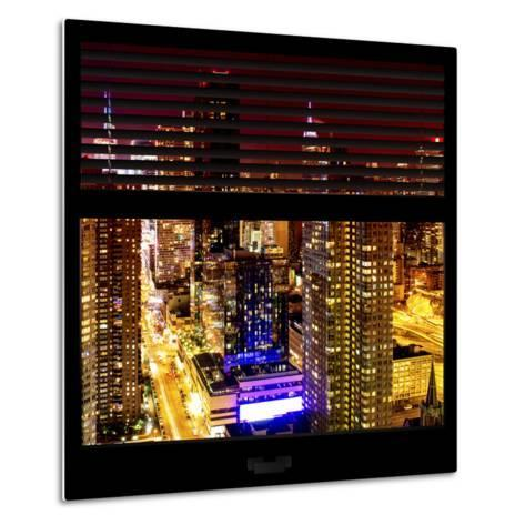 View from the Window - Midtown Manhattan Night-Philippe Hugonnard-Metal Print