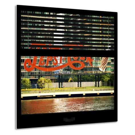View from the Window - NYC Urban Sign-Philippe Hugonnard-Metal Print