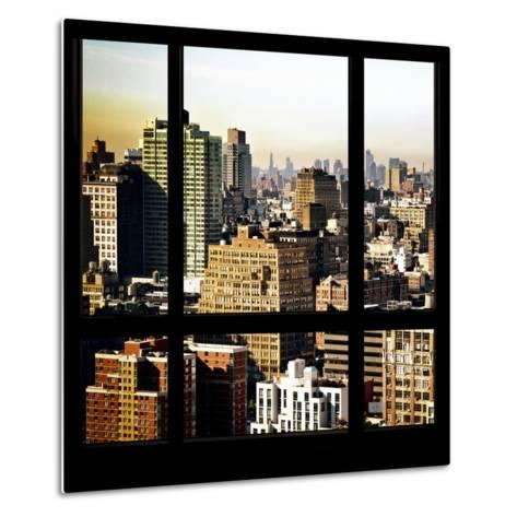 View from the Window - Manhattan Architecture-Philippe Hugonnard-Metal Print