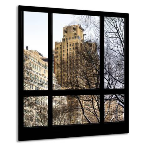 View from the Window - Central Park Buildings-Philippe Hugonnard-Metal Print