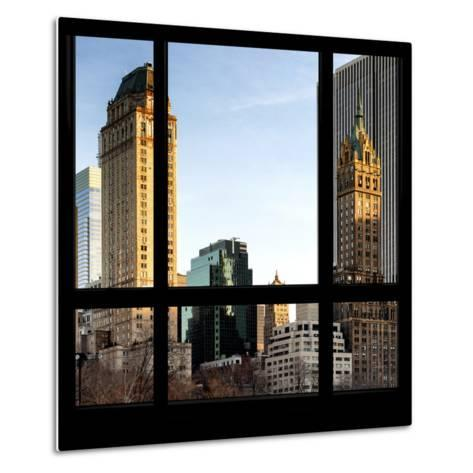 View from the Window - Central Park Buildings at Sunset-Philippe Hugonnard-Metal Print