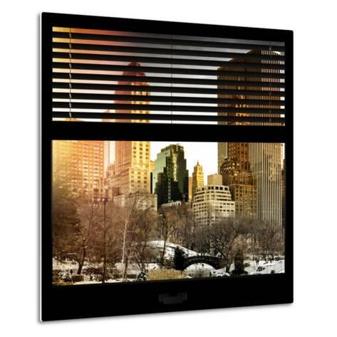 View from the Window - Central Park in Winter-Philippe Hugonnard-Metal Print