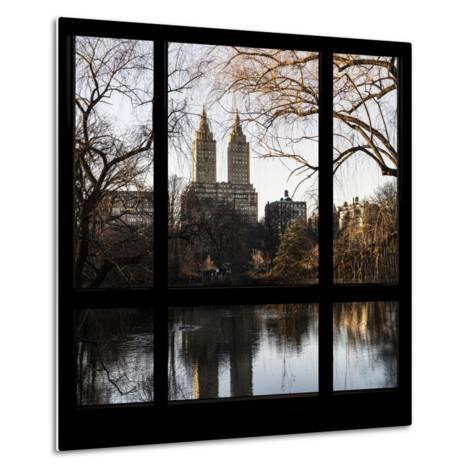 View from the Window - Central Park in Autumn-Philippe Hugonnard-Metal Print