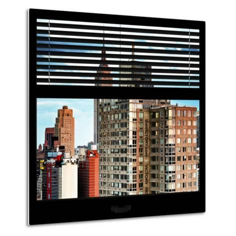 View from the Window - Manhattan Buildings-Philippe Hugonnard-Metal Print