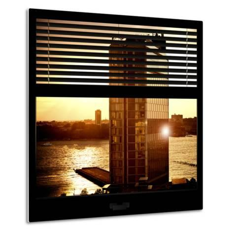 View from the Window - New York Building Sunset-Philippe Hugonnard-Metal Print