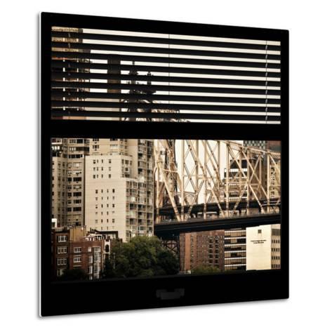 View from the Window - Queensboro Bridge-Philippe Hugonnard-Metal Print