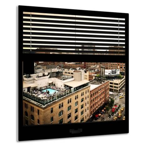 View from the Window - Chelsea Buildings - Manhattan-Philippe Hugonnard-Metal Print