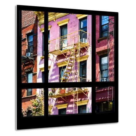 View from the Window - New York Facade Colors-Philippe Hugonnard-Metal Print