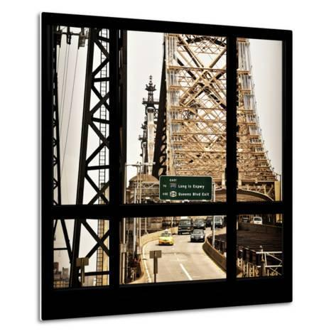 View from the Window - Queensboro Bridge Traffic-Philippe Hugonnard-Metal Print