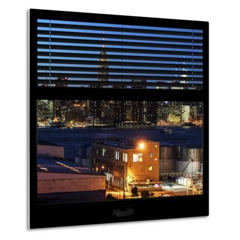 View from the Window - Night Skyline - New York City-Philippe Hugonnard-Metal Print