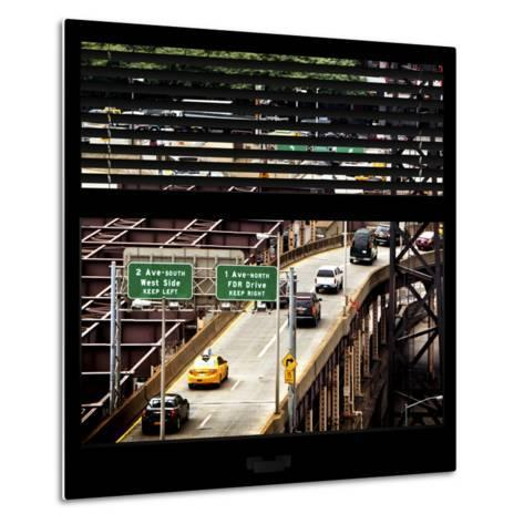 View from the Window - New York Traffic-Philippe Hugonnard-Metal Print