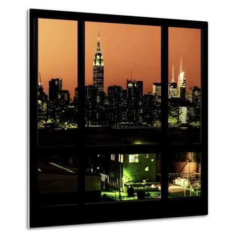 View from the Window - Night Skyline - New York City-Philippe Hugonnard-Metal Print