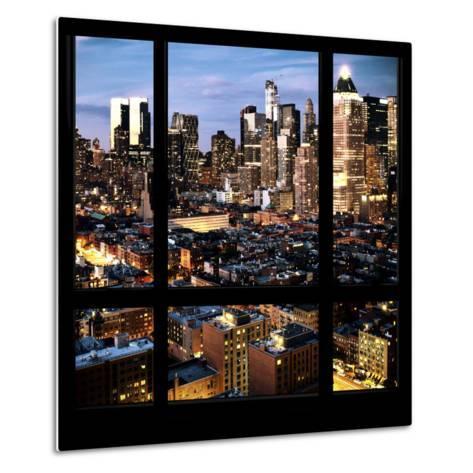 View from the Window - Manhattan Night-Philippe Hugonnard-Metal Print