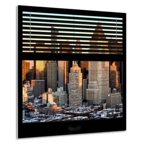 View from the Window - Hell's Kitchen at Sunset - Manhattan-Philippe Hugonnard-Metal Print