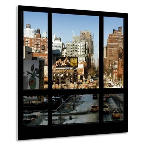 View from the Window - Manhattan Winter-Philippe Hugonnard-Metal Print